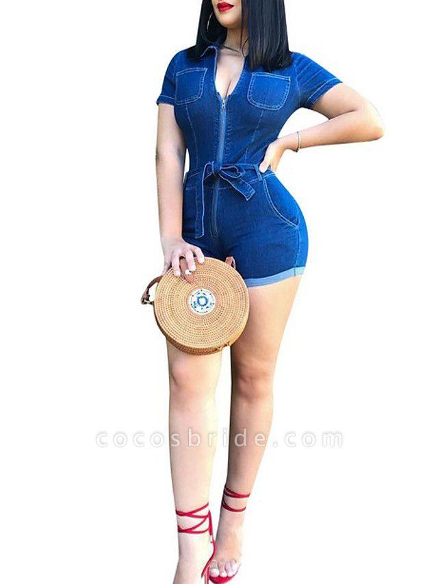 Women's Blue Romper