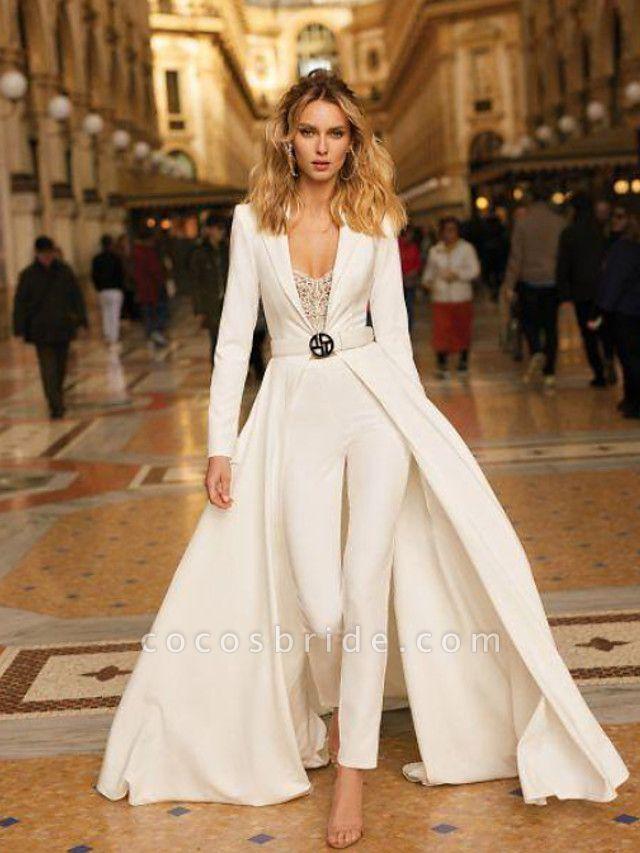 Women's Basic White Jumpsuit