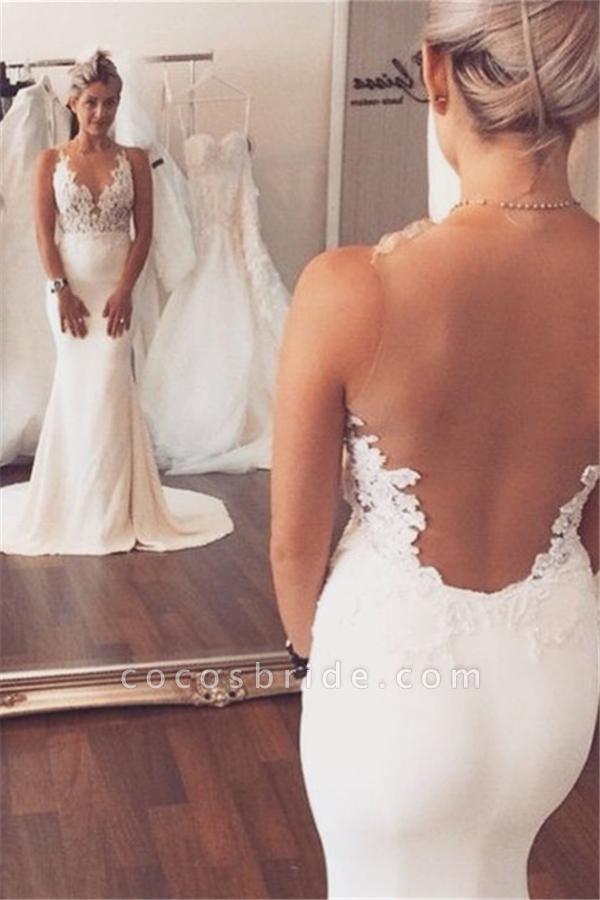 Mermaid Wedding Dress Sleeveless Lace summer Beach Wedding Gowns