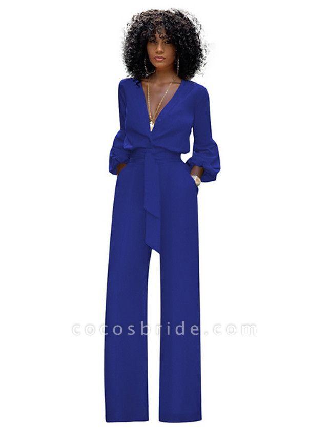 Women's Red Blue Black Wide Leg Slim Romper