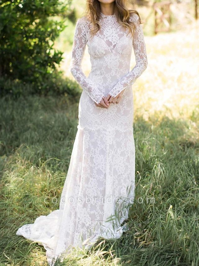 Lt8058910 Beautiful Lace Long Sleeve Wedding Gowns 2021