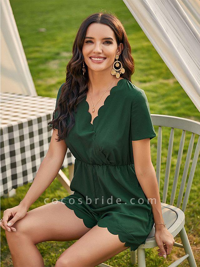 Women's Green Romper