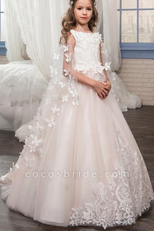 Scoop Neck Sleeveless Ball Gown Flower Girls Dress