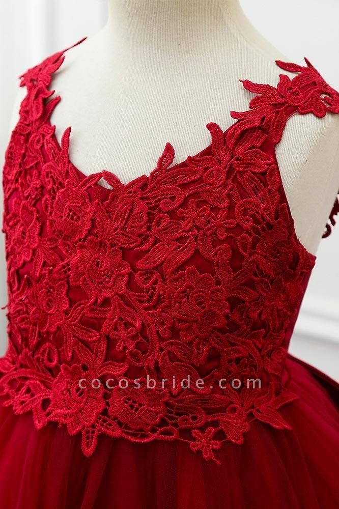 Red V-Neck Sleeveless Ball Gown Short Dress