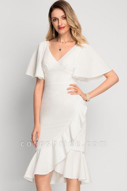Trumpet/Mermaid Asymmetrical Stretch Crepe Cocktail Dress