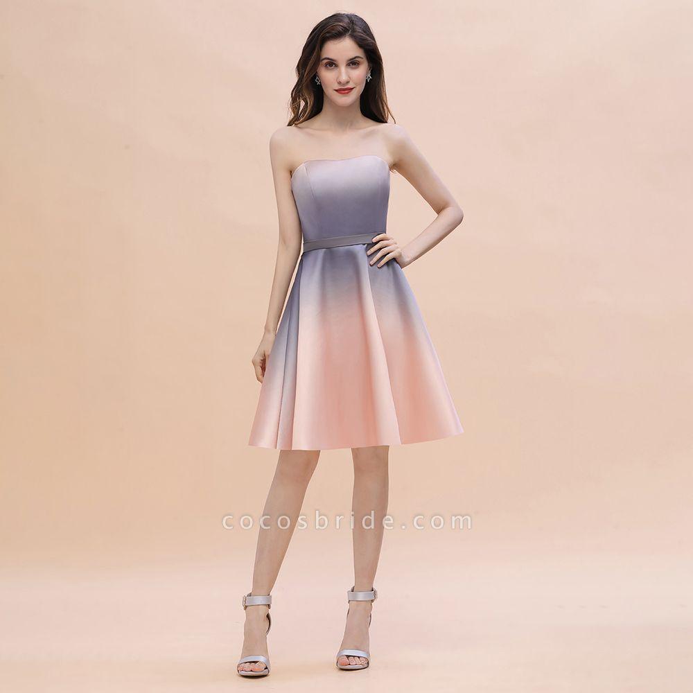 A-line Sweetheart Gradient Short Evening Party Dress