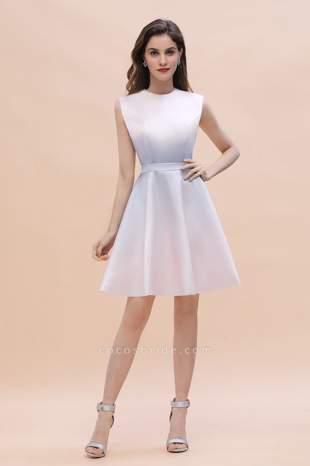 Elegant Gradient A-line Daily Casual Sleeveless Evening Party Dress