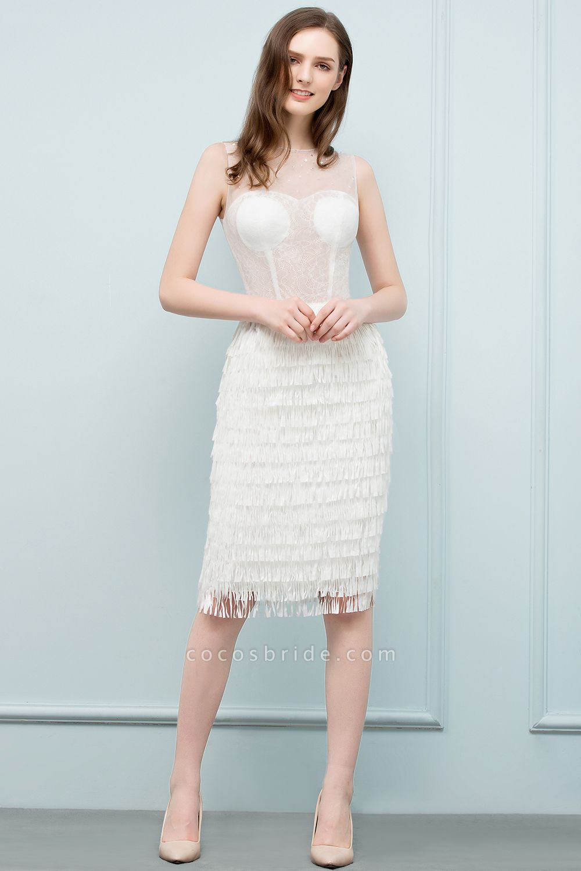 Sleeve Strapless Ruffles Short Formal Dress