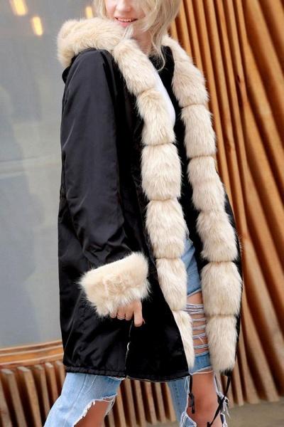 Winter Overcoat Hooded Parka Coat Faux Fur Coats_4