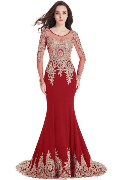 Beautiful Jewel Stretch Satin Mermaid Prom Dress_2