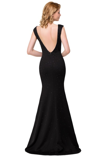 Precious Bateau Satin Mermaid Evening Dress_4