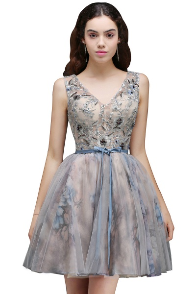Wonderful Straps Satin A-line Homecoming Dress_1