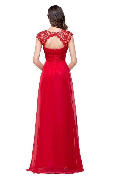 EMMELINE | A-Line Cap Sleeves Floor-Length Chiffon Prom Dresses_5