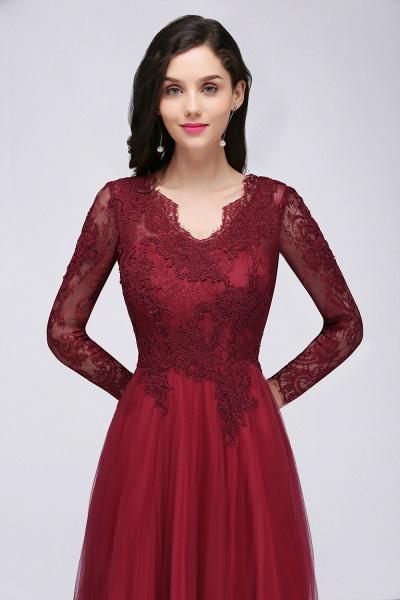 Marvelous V-neck Tulle A-line Prom Dress_8