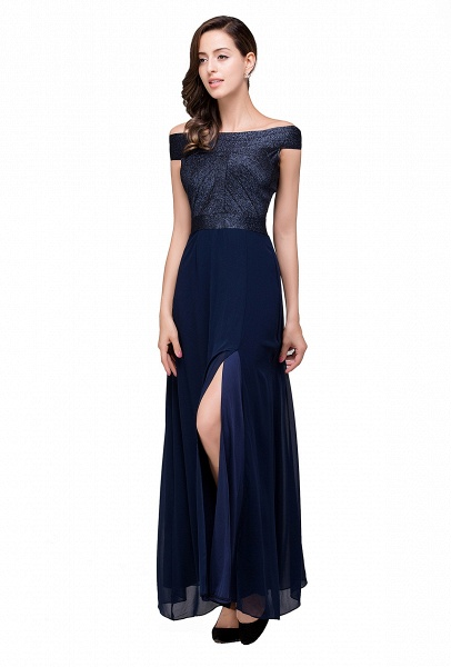 FRANCESCA | Sheath Off Shoulder Floor-Length Chiffon Prom Dresses_4