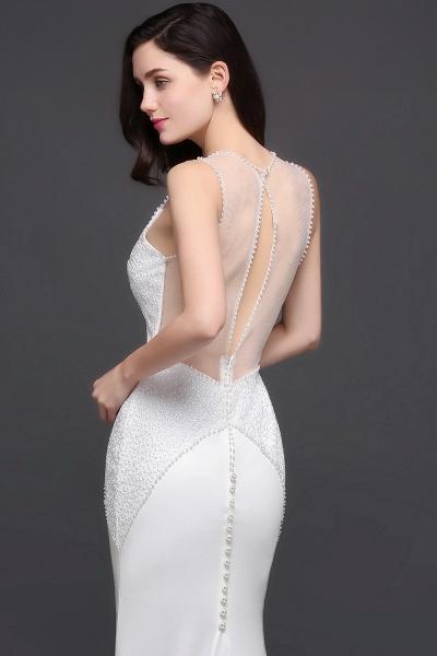 Modest Jewel Chiffon Mermaid Evening Dress_5