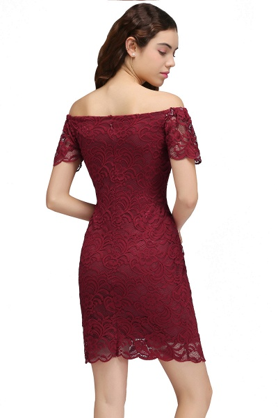 Chic Off-the-shoulder Lace Column Homecoming Dress_3