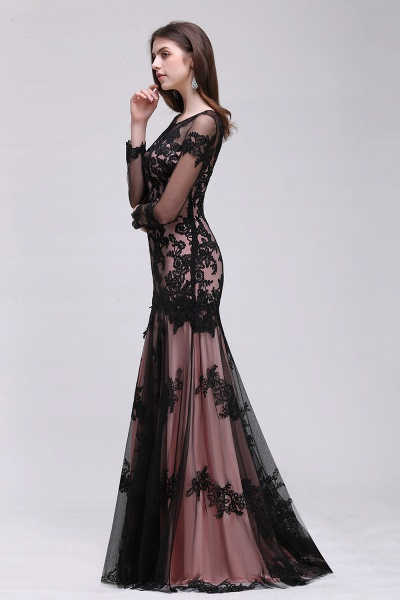 BRYNLEE | Mermaid Long Tulle Sheer Evening Gowns with Appliques_6