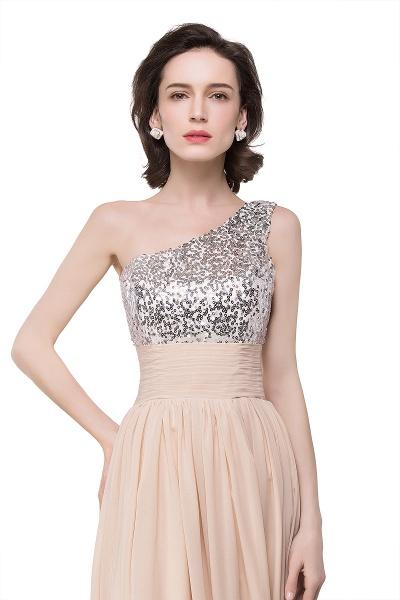 A-line Sequined Floor-length Chiffon Evening Dress_9