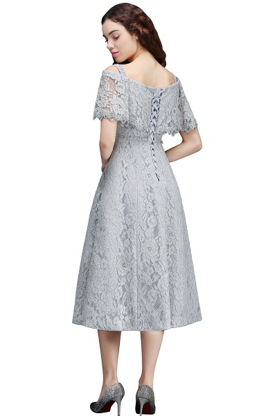 ALEXIS | A Line Off Shoulder Tea-Length Lace Homecoming Dresses With Sash_3