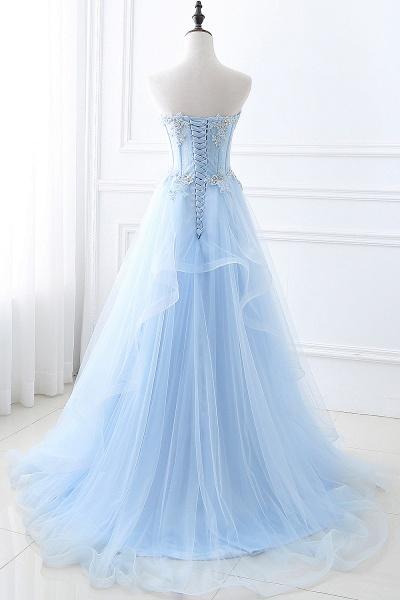Graceful Strapless Organza Ball Gown Evening Dress_2