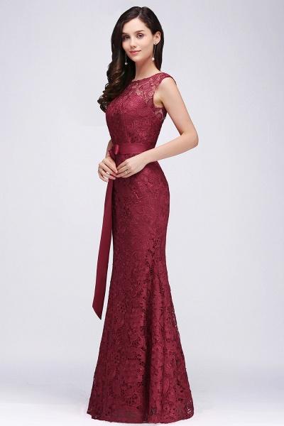EDEN | Mermaid Sleeveless Floor-length Lace Prom Dresses with Ribbon Sash_4