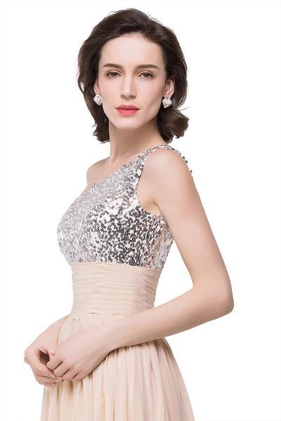 A-line Sequined Floor-length Chiffon Evening Dress_7