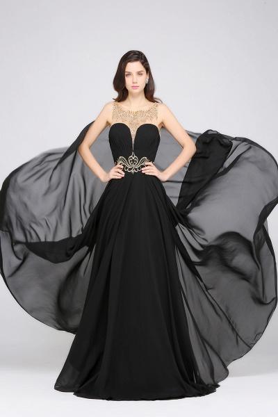 Awesome Jewel Chiffon A-line Evening Dress_5