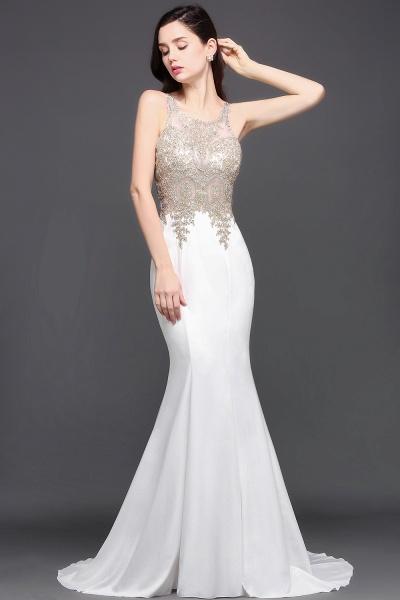 Fascinating Scoop Chiffon Mermaid Prom Dress_3