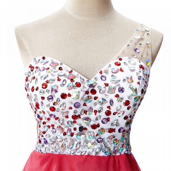 Elegant One Shoulder Chiffon A-line Evening Dress_5