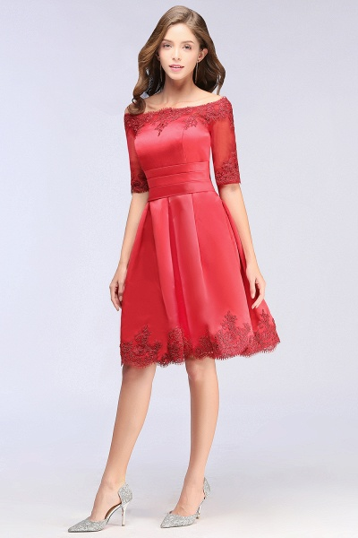 Chic Off-the-shoulder A-line Homecoming Dress_9