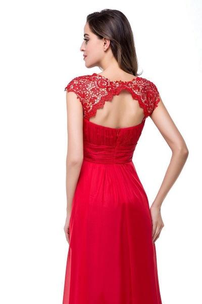 EMMELINE | A-Line Cap Sleeves Floor-Length Chiffon Prom Dresses_6