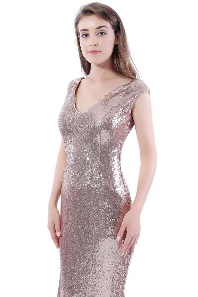 DAKOTA | Mermaid Floor Length V-Neck Long Sequins Prom Dresses_8