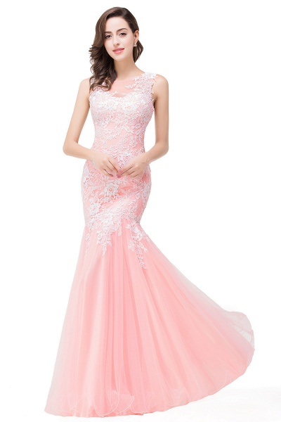Long Lace Mermaid Sleeveless Maxi Prom Dress_1