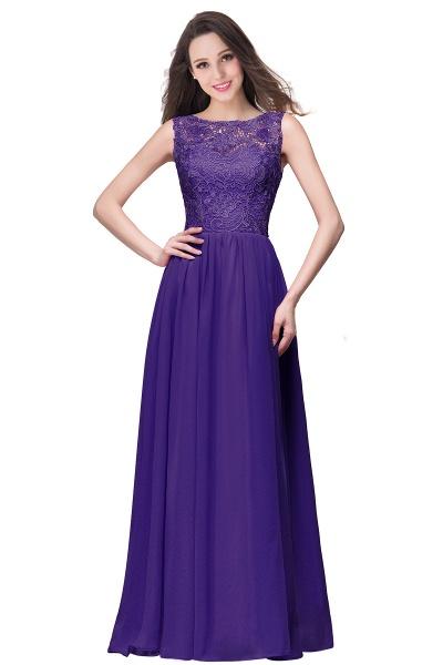 Fascinating Jewel Chiffon A-line Bridesmaid Dress_4