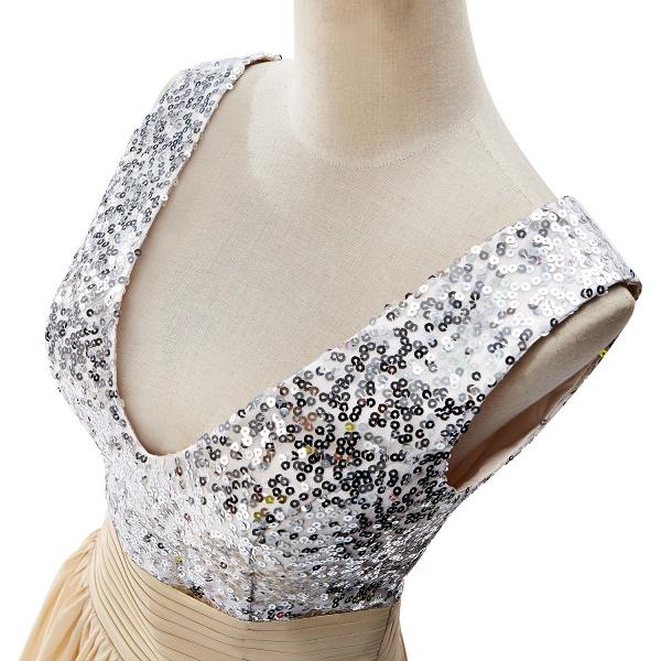 Fascinating V-neck Chiffon A-line Evening Dress_11