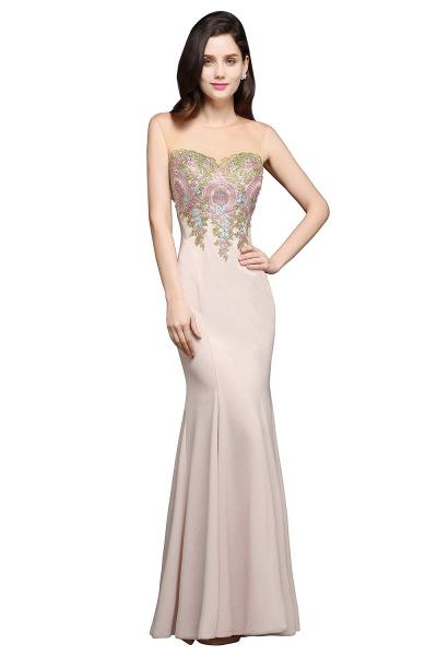 Marvelous Jewel Stretch Satin Mermaid Evening Dress_1