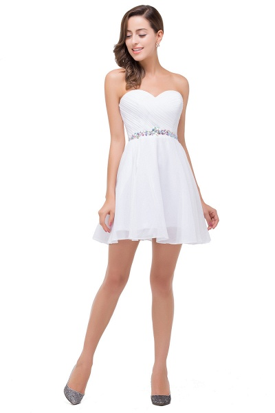 EMILEE | A-line Sweetheart Short Prom Dresses with Beadings_5
