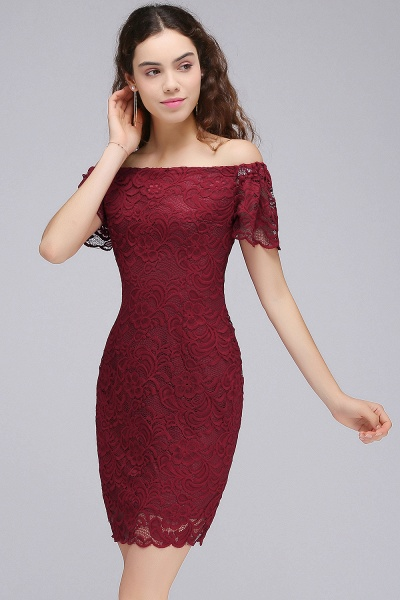 Chic Off-the-shoulder Lace Column Homecoming Dress_6