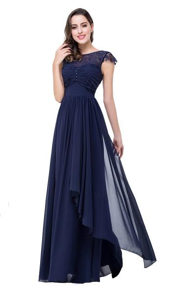 ELLEN   A-line Short Sleeves Chiffon Bridesmaid Dresses with Ribbon Bow_7