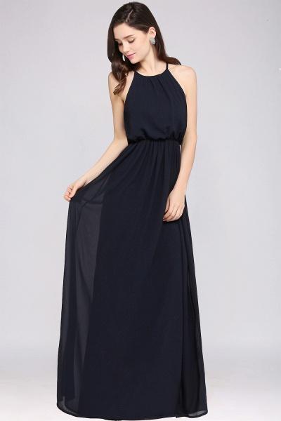 CHEYENNE | A-line Floor-length Chiffon Navy Blue Simple Prom Dress_13