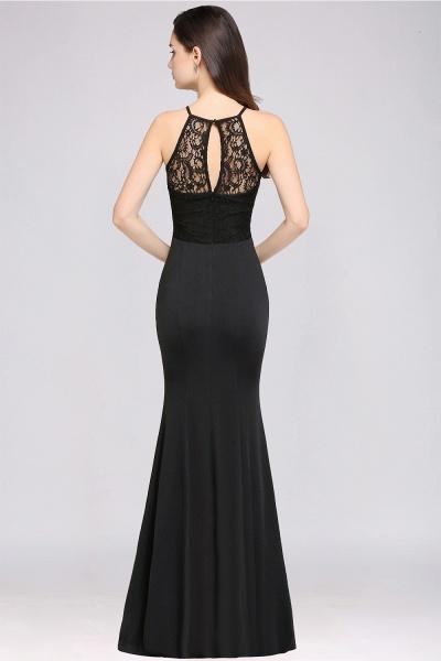 Eye-catching Halter Lace Mermaid Bridesmaid Dress_3