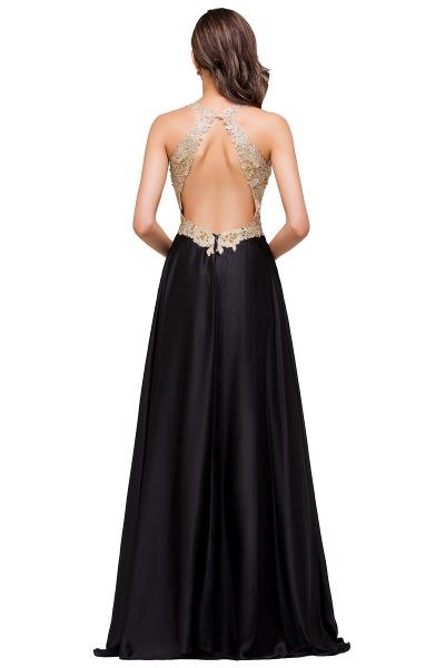 EMMALINE | A-Line Floor-Length V-neck Appliques Prom Dresses_6