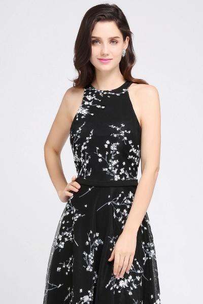 Eye-catching Jewel Stretch Satin A-line Evening Dress_4