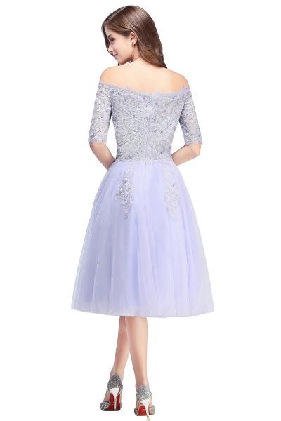 A-line Bateau Tulle Appliques Prom Dress_5