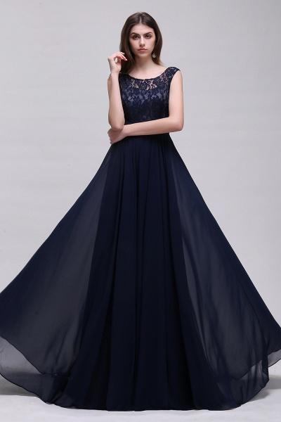 Eye-catching Scoop Chiffon A-line Evening Dress_4