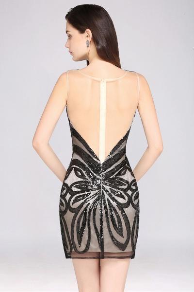 Attractive Scoop Sequined Column Homecoming Dress_6