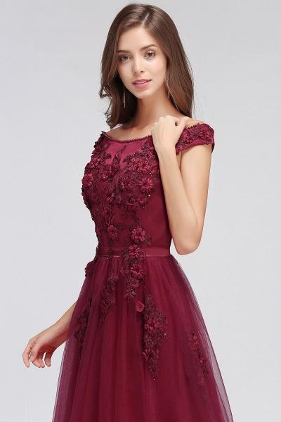 Sleek Off-the-shoulder Tulle A-line Evening Dress_10