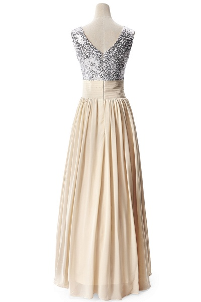 Fascinating V-neck Chiffon A-line Evening Dress_7