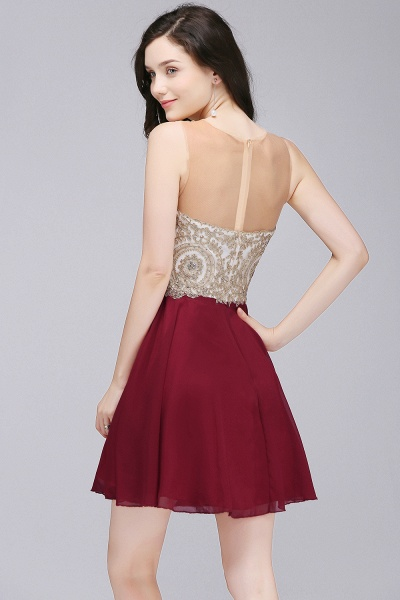 ALIANNA | Sheath Jewel Chiffon Short Homecoming Party Dresses With Applique_4